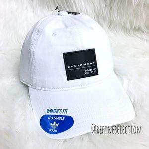 adidas Equipment White Black Relaxed Strapback Hat